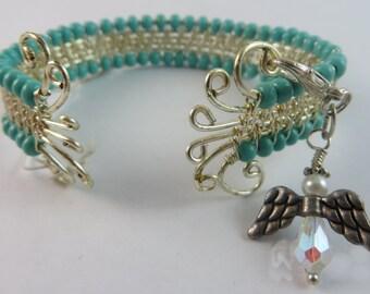Turquoise Wire Bracelet