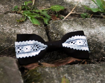 Lace Custom Hair Bow Clip