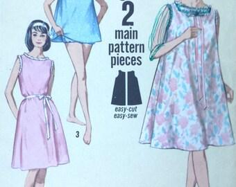 Simplicity Printed Pattern 5002, Vintage Printed Pattern, Jiffy Lingerie, 1960s, Vintage Nightgown, Top ad Panties, Miss Medium 14-16