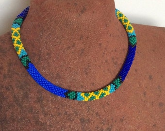 African blue necklace