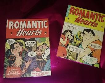 Romantic Hearts Comic post card