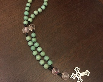 Anglican Rosary (Glass Cruciform Beads)