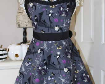 Nightmare Before Christmas Apron (Sweetheart Neckline)