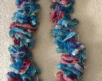 Multicolored Ruffled Scarf
