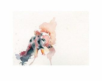 Piglet Print. Watercolor pig print. Piglet Art. Farm Animal. Pig Art. Pink. Ready to ship.