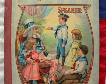Young American Speaker Book 1890's Songs and Poems