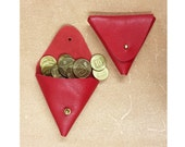 Valentine's Day Gifts - Red Leather Purse - Soft Red Leather Wallet - Coin Leather Purse- Small Red wallet- Gift For Her- Red Valentine Gift