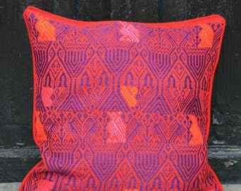 "Pink Mayan Cushion Cover - 16""x16"""