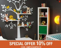 Wall Decals Nursery - The Original Shelving Tree Wall Decal - Nursery Decor