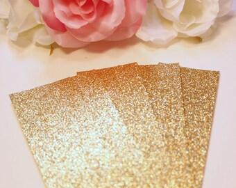 Gold Glitter Belly bands, Gold Bellybands, Wedding Invitation Wraps, Glitter Invite Band, Gold Wedding, Gold Glitter Cardstock - Set of 24