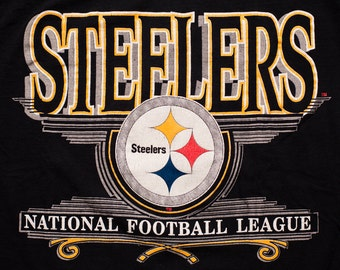 Pittsburgh Steelers T-Shirt, NFL Football Team Logo Apparel, Vintage 90s