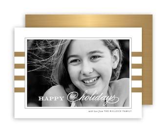 Golden Stripes Photo Card
