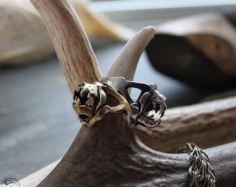 Miyu Decay Charivari Ring in Brass and Silver
