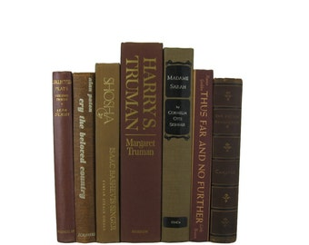 Brown  Decorative Books ,  Vintage Books ,  Vintage Wedding Decor , Book  Home Decor and  Vintage  Photography Prop