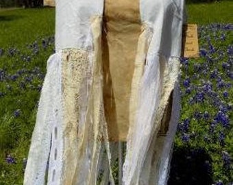 Lace Fringe Vest Shabby Chic Rodeo Country Southern Western Vintage Lace Unique