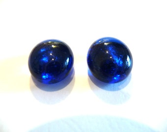 Cobalt Blue Studs, cobalt blue posts, cobalt blue, cobalt posts, cobalt studs, cobalt glass studs, blue posts, blue studs, glass posts,