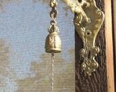 Vintage brass Angel wall bracket Door bell Victorian