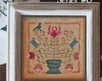 Tulip and Lily Garden Club #6 : Blackbird Designs counted cross stitch patterns embroidery