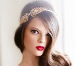 Gold Leaf Tiara, Greek Goddess, Grecian Headband, Gold Leaf Headpiece, Frond Leaf, Laurel Leaf, Greek Goddess Crown, Gold Tiara APHRODITE