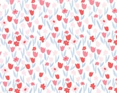 Aria Abloom in Cloud Begonia, Kate Spain, 100% Cotton, Moda Fabrics, 27236 21
