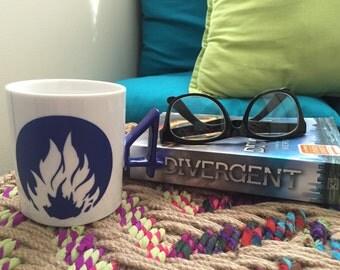 Four Fears - Four Dauntless Tattoo Divergent Mug - Dauntless Divergent Mug - Four Tobias Eaton - Fan Girl Mug - Divergent Faction Mug