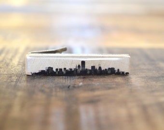 Chicago Skyline Tie Clip, personalized tie clip Mens Accessory