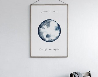 Child of the Moon Print, Wall Print, Tribal Wall Prints, Wall Print Download, Printable, Watercolor Downloads
