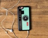 Camera iPhone Case Camera iPhone 6 Case Camera iPhone 5 Case Pastel iPhone 5S Case Silicone Camera iPhone 6S Case Mint Green iPhone 5C Case