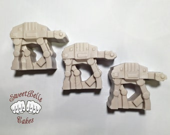 AT-AT Solid Chocolate. Star Wars chocolate. Set of 6.