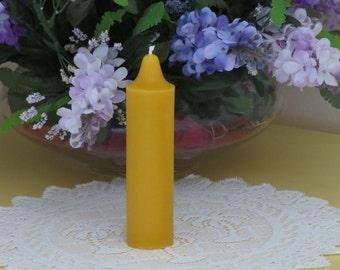 """Beeswax 6"""" Pillar Candle"""