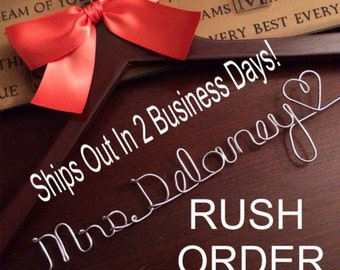 20% OFF SALE RUSH Listing /single line  personalized wedding hanger / bridal shower gift