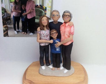 Custom Family Sculpture *Grandparents Portrait created from your photos and ideas