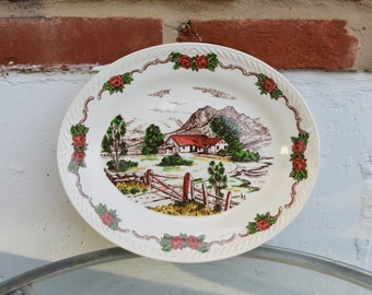 Vintage Decorative Platter, Norway