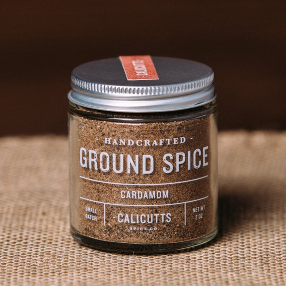 Cardamom Handcrafted Ground Spice 2 ounces in Glass Jar