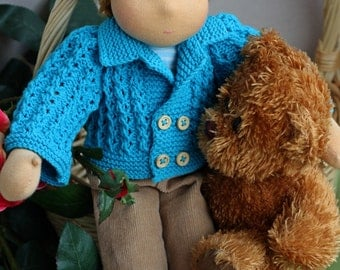 "ready for shipment - Waldorf doll- boy  ""Little prince""  for children from 2 years-16 inches"