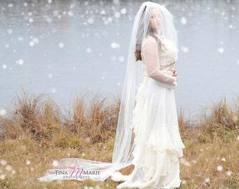 Chiffon Ruffle Bridal Skirt / Las Nubes Skirt / Bridal Separate / Silk Chiffon and Dupioni / for Two Piece Wedding Dress