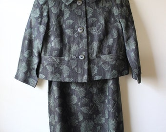 Elegant 1960s Jacquard Dress Suit (3pc)