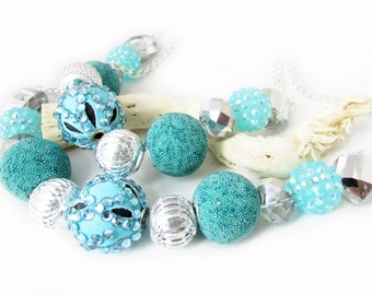 Curtain Tiebacks, Beaded Curtain Tiebacks, Drapery Tie Backs, Curtain Tie Backs, Aqua Tie Backs