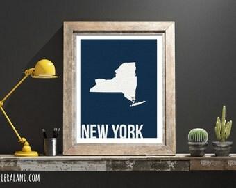 I love New York, NYC, NY, 11x14 or 8x10, customizable city, I heart pop art poster, digital art print, modern home decor state art