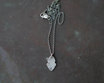 Artisan Silver Pendant - Rustic Boho Necklace - Southwestern Jewelry - Witchy Necklace - Spirit Spear Charm Necklace Sterling Silver