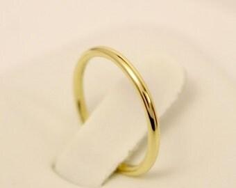 18k Full Round Ring, 18k Wedding Ring, 18k Wedding Band, 18k Gold Ring, 18k Spacer Ring, 18k Stack Ring, 18k Thumb Ring, 18k Knuckle Ring