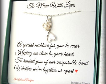 Mother of the Bride gift, Mother of the Groom gift, Mothers Day gift, Mother of the Bride, Mother of Groom gift, connecting hearts necklace