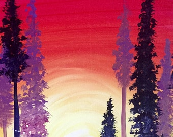 Forest 16x20 Canvas Painting