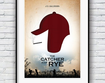 The Catcher in the Rye, JD Salinger, Literature gifts, Literature Poster, Catcher in the Rye Poster, Wall Decor