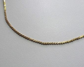 Vintage Monet Gold Tone Chain Necklace | 18 3/4 inch