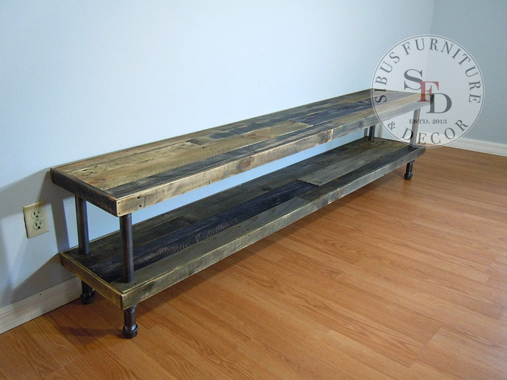 Reclaimed Wood Tv Stand Pallet Wood Media Stand Tv Console