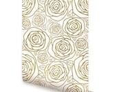 Rose Gold Peel & Stick Fabric Wallpaper Repositionable