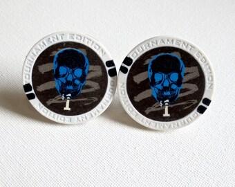Poker Chips Cufflinks Cuff Links Casino Las Vegas Wedding Groom Groomsmen Gift