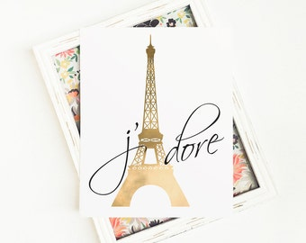 Paris Art, Eiffel Tower Decor, Paris Bedroom Decor, Paris Wall Art, French
