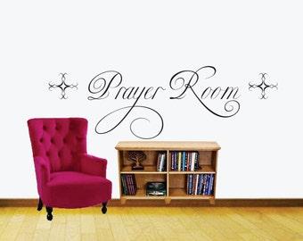 Prayer Room Vinyl Wall Decal - Window Decals - Prayer Closet - Vinyl Wall Decals - Office - Living Room - Den